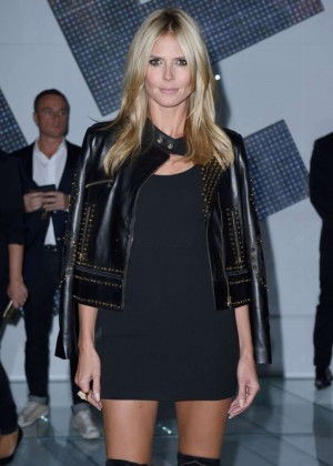 Heidi Klum - Versace Show Womenswear Spring/Summer 2015 Milan Fashion Week