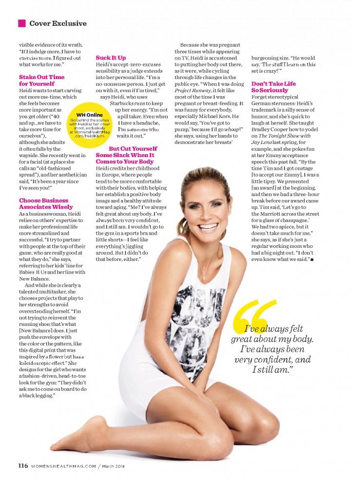 Heidi Klum: Womens Health Magazine -01