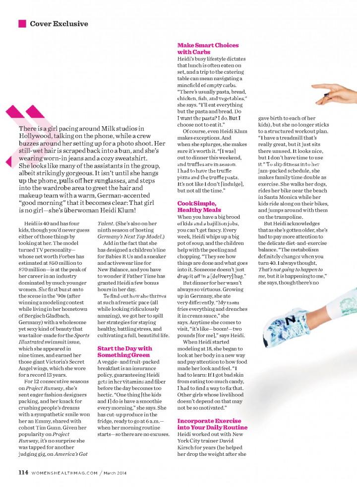 Heidi Klum: Womens Health Magazine -02
