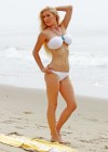 Heidi Montag - wearing white bikini at a beach in Santa Barbara