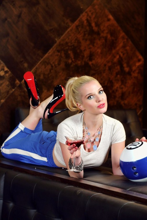 Helen Flanagan – Dog Bowl Bowling Alley Photoshoot – March 2013 -02