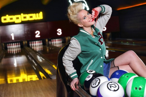 Helen Flanagan – Dog Bowl Bowling Alley Photoshoot – March 2013 -05