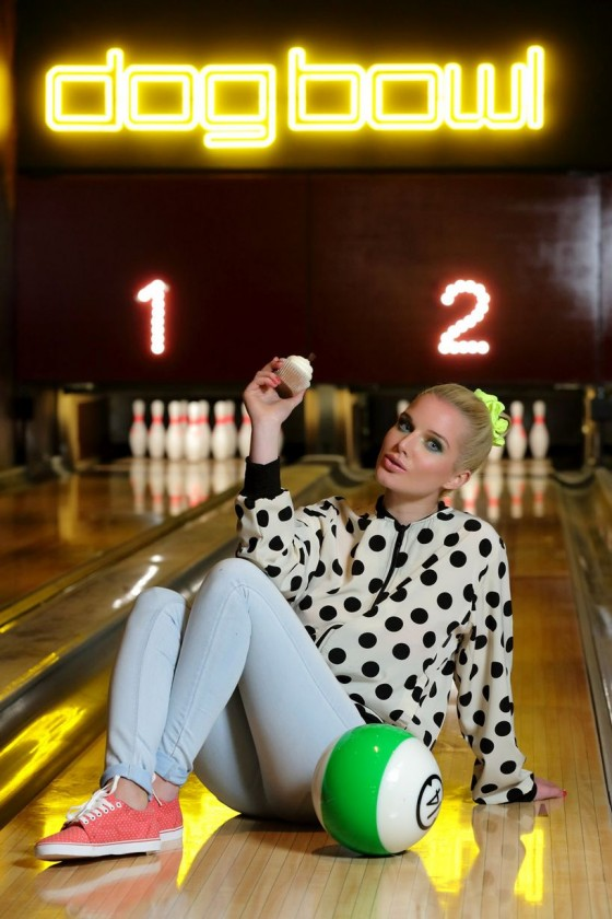 Helen Flanagan – Dog Bowl Bowling Alley Photoshoot – March 2013 -07