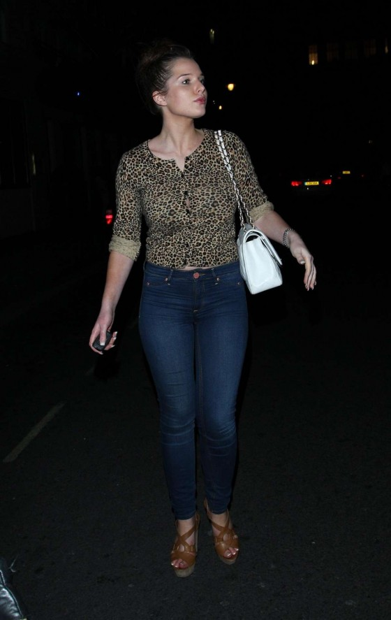 Helen Flanagan - In a tight jeans candids in London