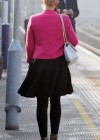 Helen Flanagan - In Pink Waiting to board a train -01