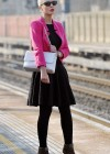 Helen Flanagan - In Pink Waiting to board a train -02