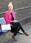 Helen Flanagan - In Pink Waiting to board a train -03