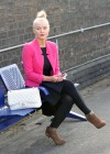 Helen Flanagan - In Pink Waiting to board a train -04