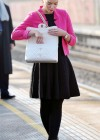 Helen Flanagan - In Pink Waiting to board a train -05