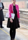 Helen Flanagan - In Pink Waiting to board a train -06