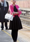 Helen Flanagan - In Pink Waiting to board a train -08