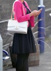 Helen Flanagan - In Pink Waiting to board a train -09
