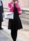Helen Flanagan - In Pink Waiting to board a train -10