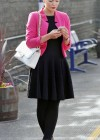 Helen Flanagan - In Pink Waiting to board a train -11