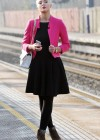 Helen Flanagan - In Pink Waiting to board a train -12