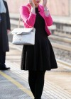 Helen Flanagan - In Pink Waiting to board a train -13