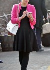 Helen Flanagan - In Pink Waiting to board a train -14