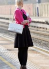 Helen Flanagan - In Pink Waiting to board a train -15