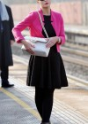 Helen Flanagan - In Pink Waiting to board a train -16