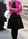 Helen Flanagan - In Pink Waiting to board a train -17