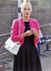 Helen Flanagan - In Pink Waiting to board a train -18