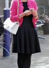 Helen Flanagan - In Pink Waiting to board a train -19