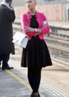 Helen Flanagan - In Pink Waiting to board a train -20