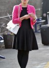 Helen Flanagan - In Pink Waiting to board a train -21