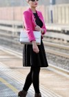 Helen Flanagan - In Pink Waiting to board a train -22