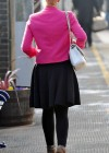 Helen Flanagan - In Pink Waiting to board a train -23