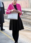 Helen Flanagan - In Pink Waiting to board a train -24