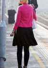 Helen Flanagan - In Pink Waiting to board a train -26