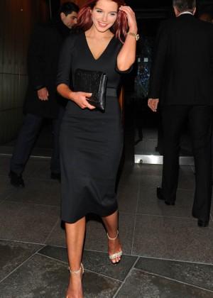 Helen Flanagan In tight black low-cut dress -06