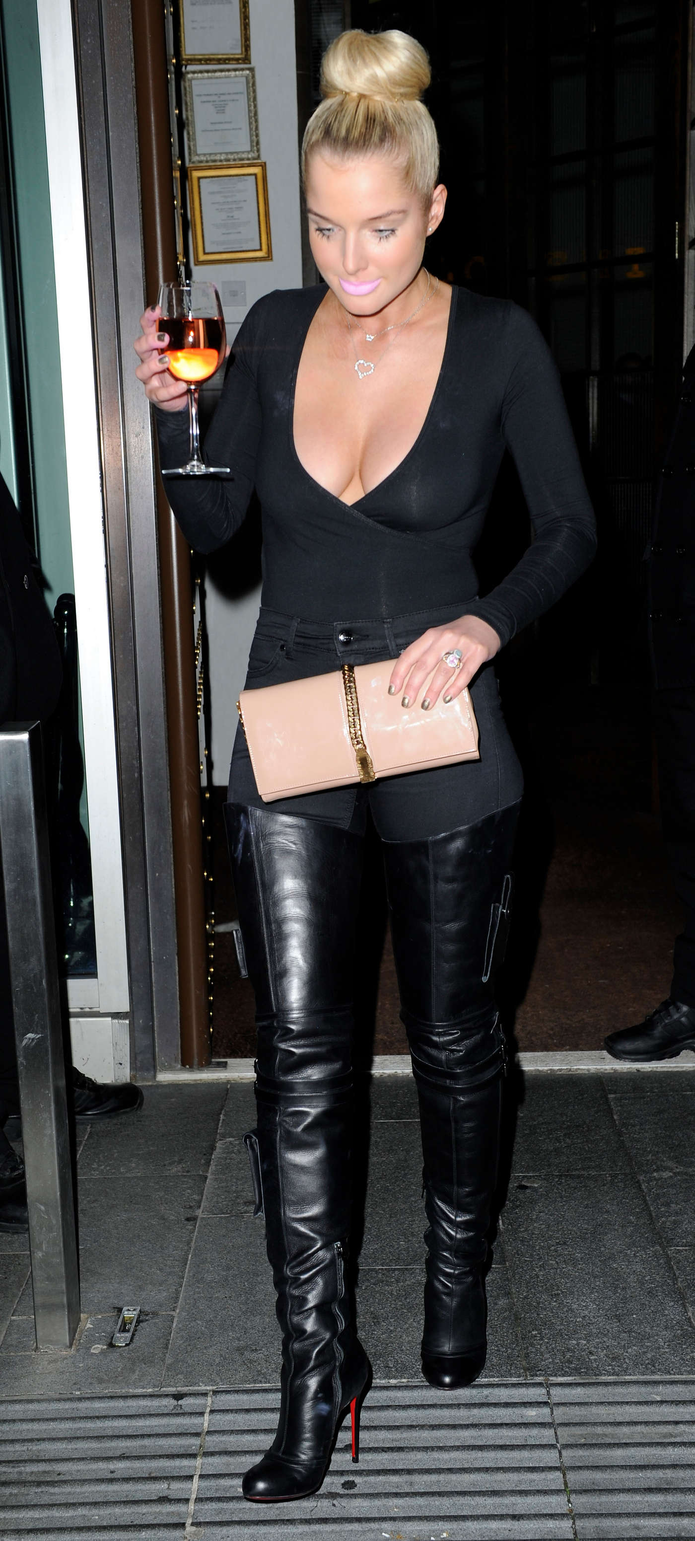 Helen Flanagan In Black Tight Pants In Manchester 03