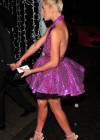 Helen Flanagan in purple dress at James Milner Foundation Ball in Manchester