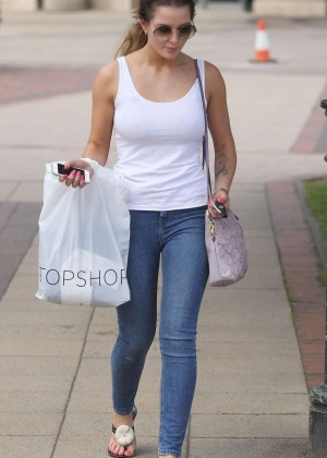 Helen Flanagan in Jeans out at Trafford Centre in London