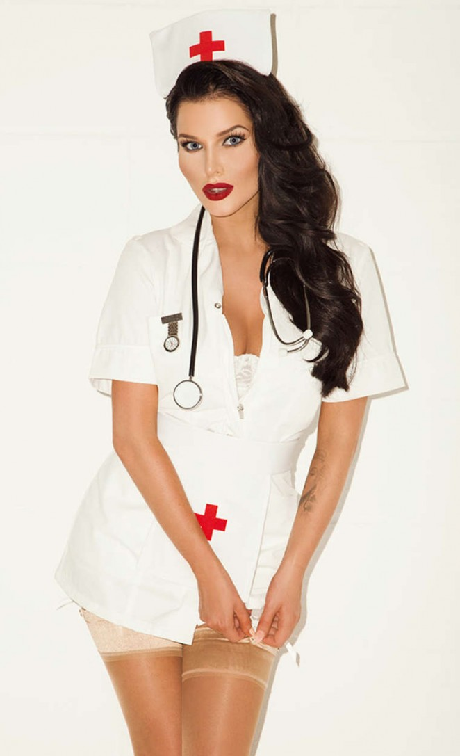 Helen Flanagan in Sun TV Magazine - Nurse Photoshoot (September 2014)