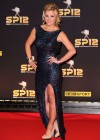Helen Skelton in long tight dress at 2012 BBC Sports Personality of the Year Awards in London