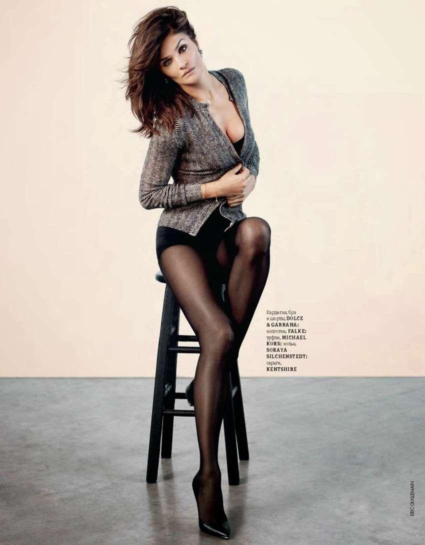 Helena Christensen Elle Ukraine Magazine December 2013