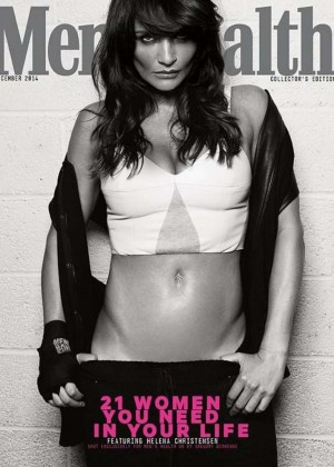 Helena Christensen - Men's Health UK Magazine Cover (December 2014)