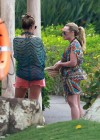 Hilary and Haylie Duff - on vacation-03