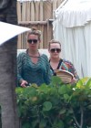 Hilary and Haylie Duff - on vacation-04