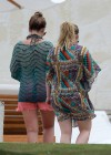 Hilary and Haylie Duff - on vacation-09