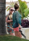 Hilary and Haylie Duff - on vacation-11
