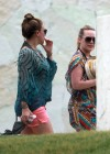 Hilary and Haylie Duff - on vacation-12