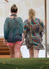 Hilary and Haylie Duff - on vacation-15