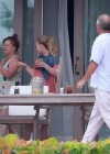 Hilary and Haylie Duff - on vacation-23