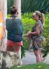 Hilary and Haylie Duff - on vacation-25