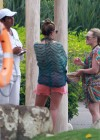 Hilary and Haylie Duff - on vacation-28