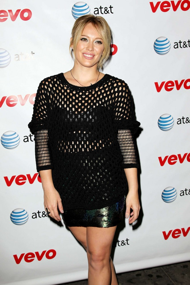 "Hilary Duff - ""All About You"" Music Video World Premiere in NYC"